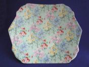 Shelley Bone China 'Melody' Chintz Vogue Cake Plate c1939